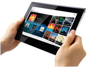 Sony Tablet S1 hands