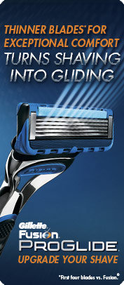 Thinner Blades* for Exceptional Comfort Turns Shaving into Gliding (*First four blades vs. Fusion)