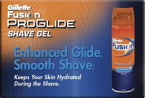 Gillette Fusion ProGlide Shave Gel - Enhanced Glide, Smooth Shave; Keeps Your Skin Hydrated During the Shave.