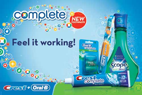 Crest Complete - New Toothpaste - Feel it working! - Crest + Oral-B