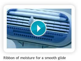 Ribbon of moisture for a smooth glide