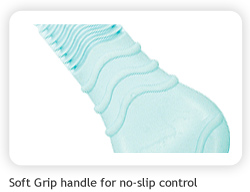 Soft Grip handle for no-slip control