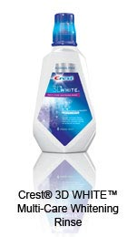 Crest&reg; 3D WHITE&trade; Multi-Care Whitening Rinse