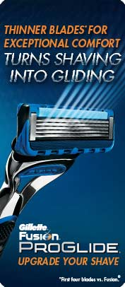Thinner Blades For Exceptional Comfort, Turns Shaving into Gliding. Gillette Fusion ProGlide - Upgrade Your Shave
