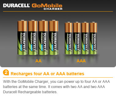 Recharges Four Aa Or Aaa Batteries