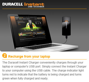 amazoncom duracell instant usb chargerincludes universal cable recharge your laptop and phone batteries at blink of an eye 380x350
