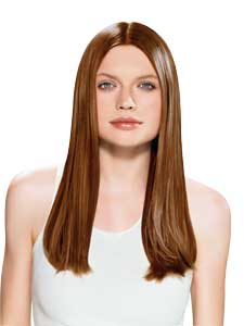 This is a picture of a girl with straight hair