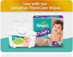Use with our Sensitive ThickCare Wipes