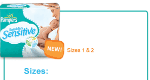 Pampers Swaddlers Sensitive NEW Sizes 3 & 4