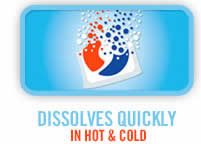 Dissolves Quickly in Hot & Cold