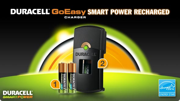 Duracell GoEasy Charger Smart Power Recharged