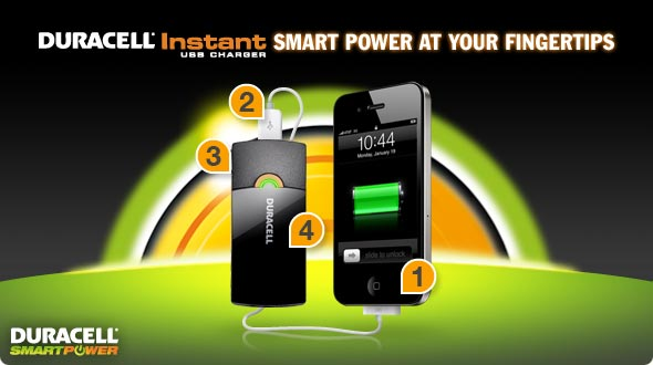 Duracell Instant USB Charger Smart Power at Your Fingertips