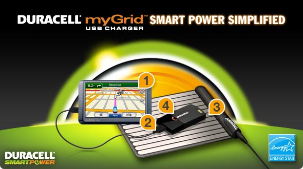 Duracell myGrid USB Charger Smart Power Simplified
