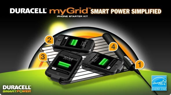 Duracell myGrid iPhone Starter Kit Smart Power Simplified