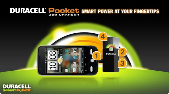 Duracell Pocket USB Charger Smart Power at Your Fingertips