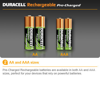 new 4 x duracell aa aa4 rechargeable battery stay pre charged batteries japan ebay. Black Bedroom Furniture Sets. Home Design Ideas