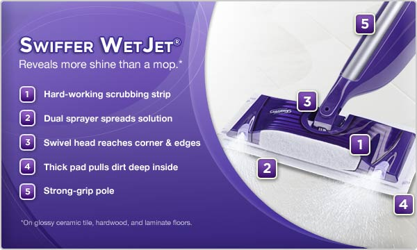 Swiffer WetJet Spray Mop Floor Cleaner Starter Kit: Amazon.ca: Health ...