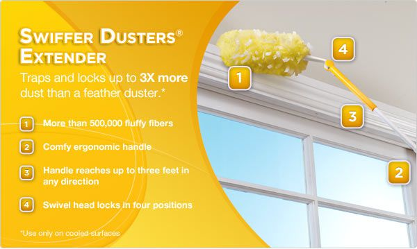 Swiffer 84858027 360 Dusters With Extendable Handle