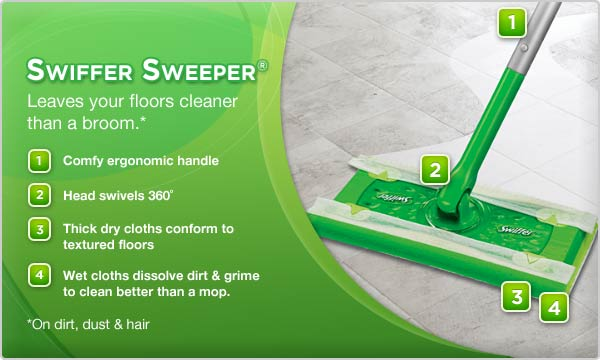 Swiffer 80204788 Sweeper Wet Mopping Cloths Mop And Broom