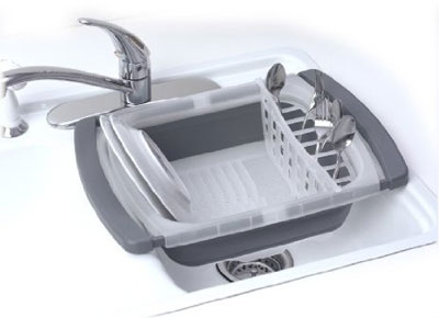 Collapsible Over the Sink Dish Drainer