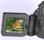 swing-out screen of the CoolPix 5700