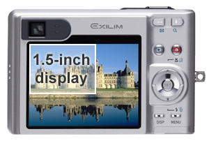 The Casio EX-Z55's large screen