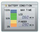 JVC's Data Battery display
