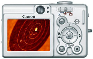 The Canon SD200 LCD display