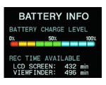 Sony Handycam battery info