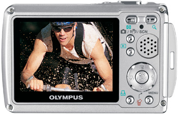 The Olympus Stylus SP-720SW's 2.5-inch LCD