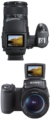 The Sony R1's vari-angle display