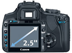 Canon Rebel XTi 2.5-inch LCD