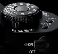 The Panasonic L1's shutter-speed dial