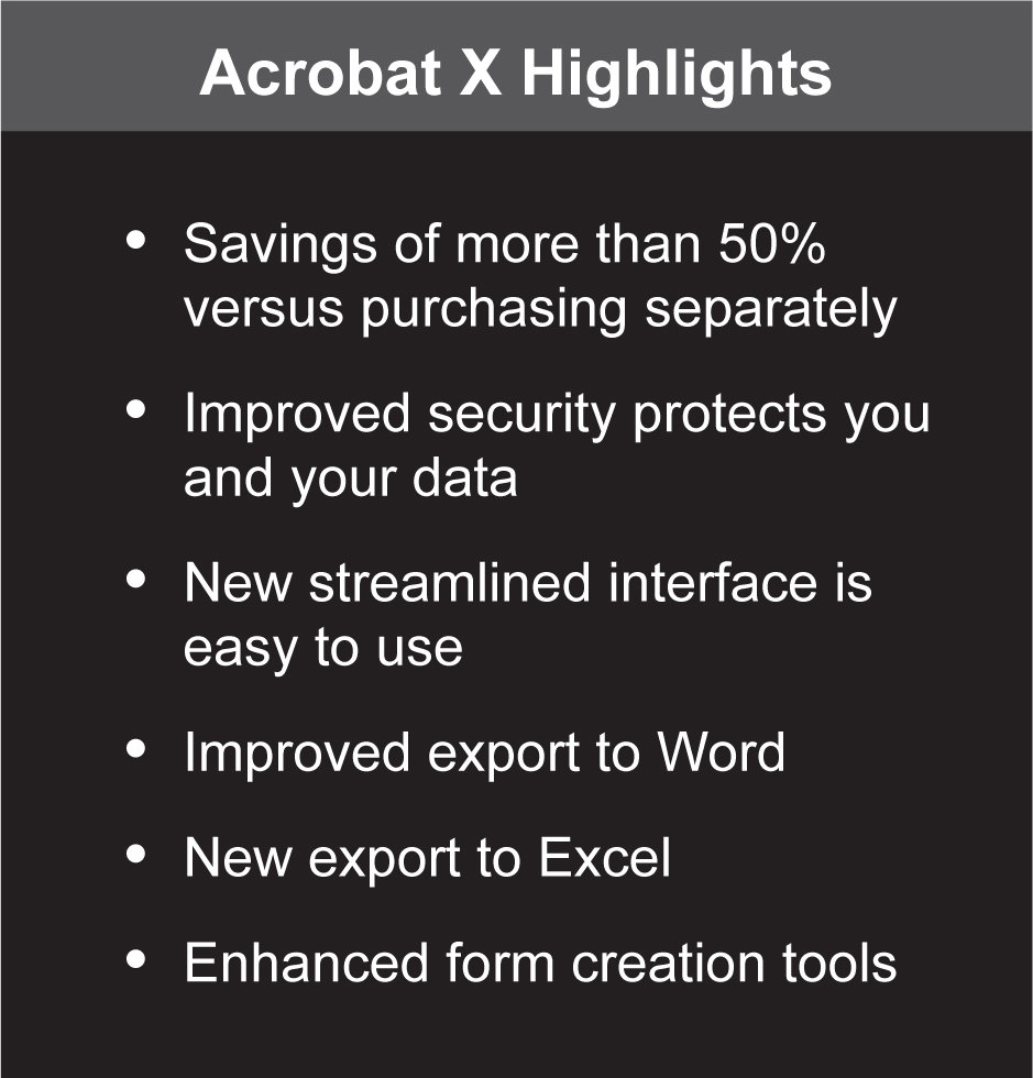 Acrobat X Suite Highlights