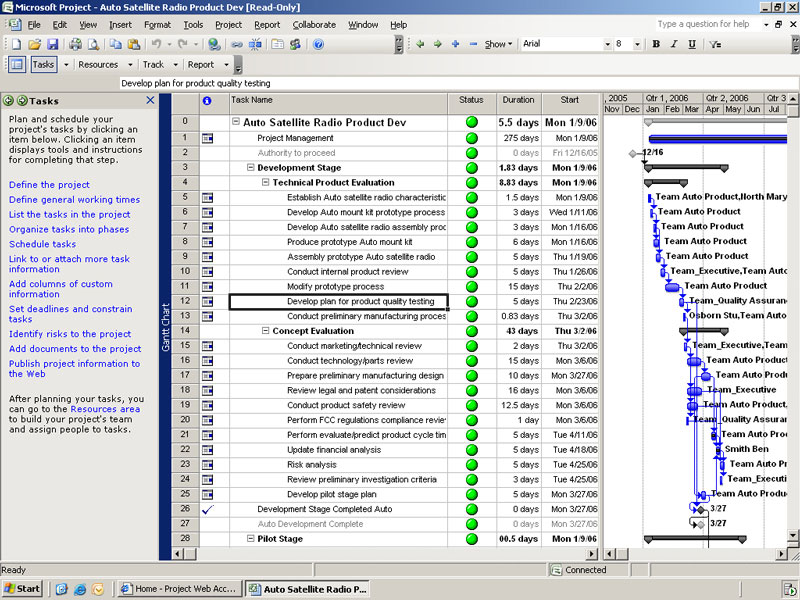 Microsoft office project plan 2007