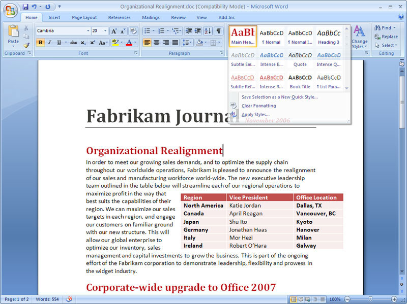 free office word 2007 download