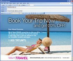 Launch e-mail campaigns for special offers!