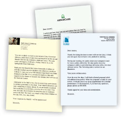 Write business letters from 2,100 samples.