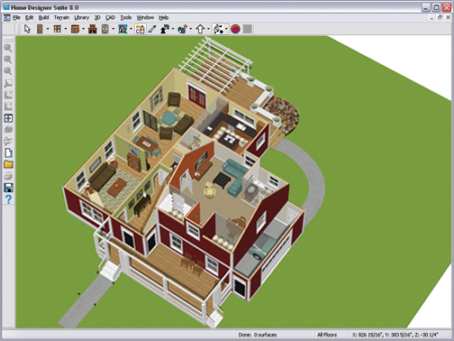 Doll House View A 3d Overview Without The Roof Is An Effective Tool For