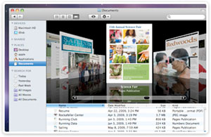 Mac OS X helps you navigate everything on your Mac visually with an innovation called Cover Flow.