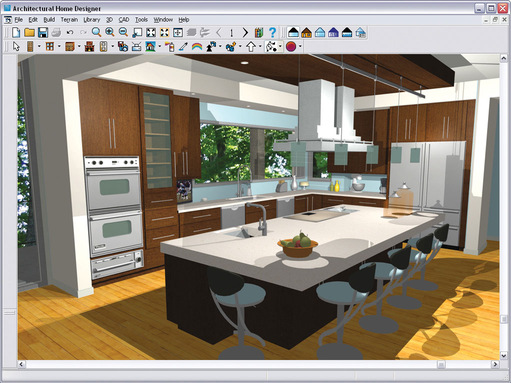 Chief architect architectural home designer 9 for Kitchen design program