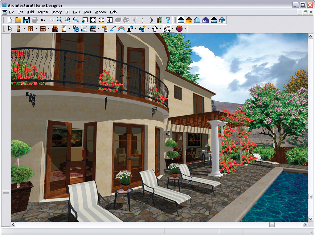Chief architect architectural home designer 9 0 pc dvd software - D home designer ...