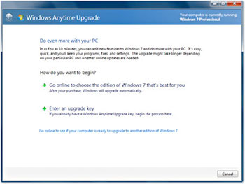 B002K7C1HG 1 Microsoft Windows 7 Anytime Upgrade [Starter to Home Premium]