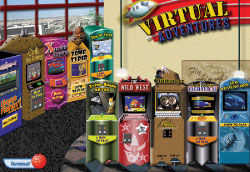 The Virtual Arcade has more action-packed games than any other typing program!
