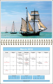 Print monthly calendars. Add your pictures and bind for the perfect gift.