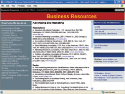 Access over 750 indexed business resources for start-ups and small businesses!