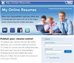 Publish resume online