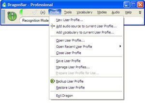 Create/manage user profiles