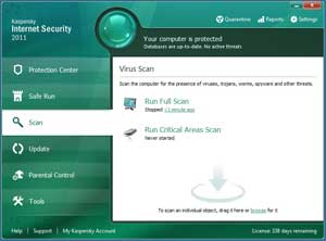 Kaspersky Internet Security--Scanning