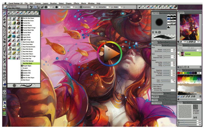 Corel painter essentials 4 Custom Brushes download